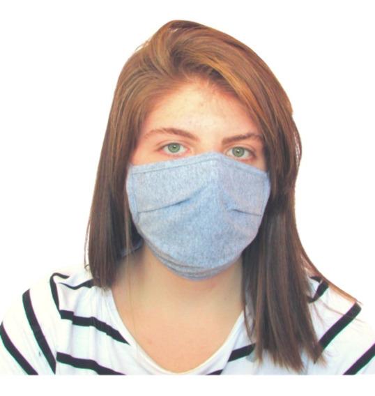 Kit 5 Máscaras Cinza Mescla Para Proteção Ambiental