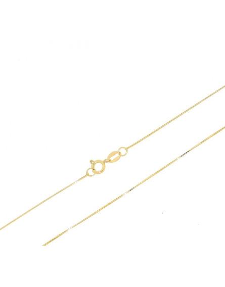 Corrente Veneziana 40 Cm 1 G Em Ouro 18 K + Brinde Caixa