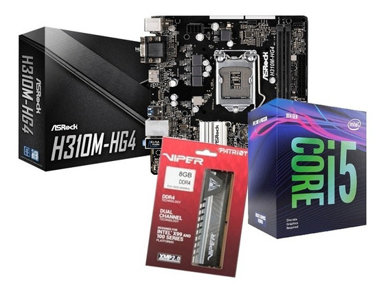 Kit Processador I5 9400f + H310 Asrock + 8gb Patriot Elite