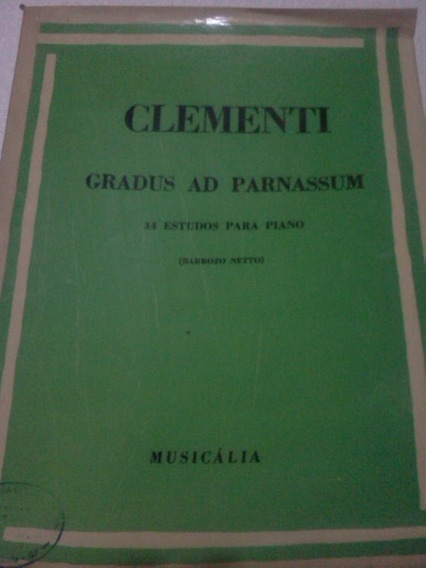 Clementi Gradus Ad Parnassum 34 Estudos Para Piano Barrozo