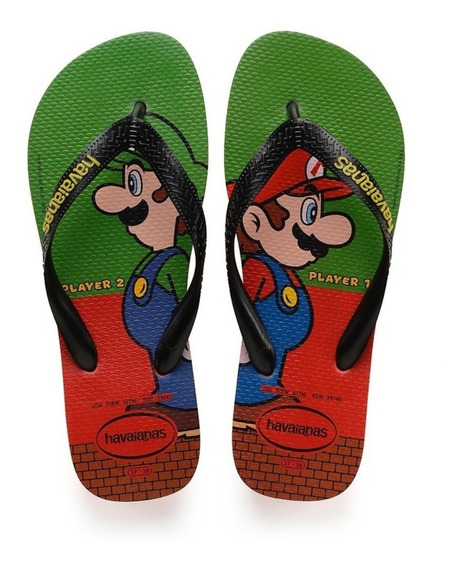 Chinelo Havaianas Mario Bros - Original