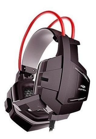 Headset Gamer C3 Tech Sparrow, P2, Preto E Vermelho - Ph-g1