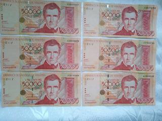 Billete Antiguo De 50 Mil Bolivares (coleccionistas)