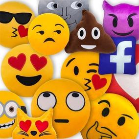 8812b61d48d4f9 Almofada Emoji Pelúcia Enchimento Emoticon Whatsapp 35cm