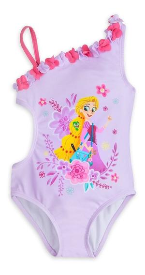 Biquíni Princesa Rapunzel Proteção 50uv Oficial Disney