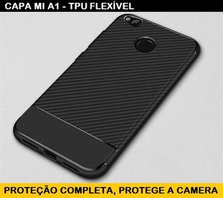Capa Xiaomi Mi A1 A 1 - Tpu Carbono