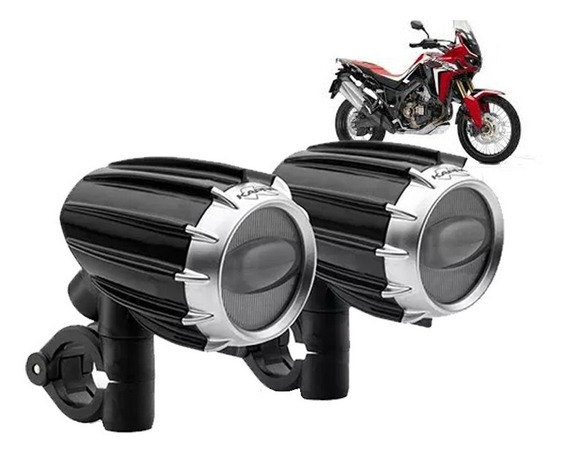 Par Farol Milha Auxiliar Led Kappa Moto Honda Africa Twin