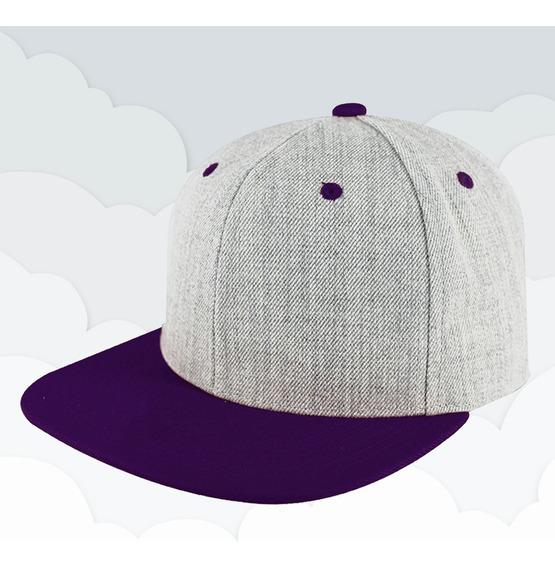 Gorra Lisa Visera Plana Snapback Combinada Sport Caps