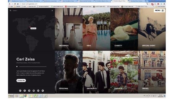 Site Para Fotógrafo E Imagens - Wordpress