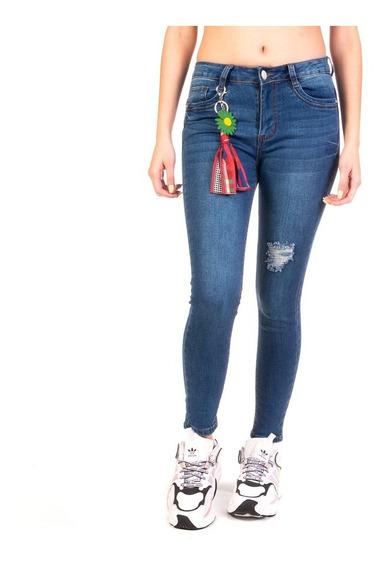 Pantalón Jeans Mezclilla Stretch Dama Skinny Stone Blue