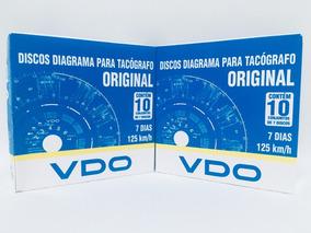 Disco Tacógrafo Vdo Original 125km 7 Dias Semanal 4 Cx