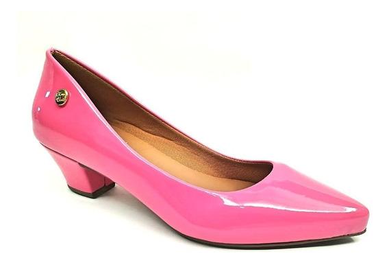 Lançamento Scarpin Feminino Bico Fino Salto Baixo-alto Pink