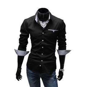 43b261bb52 Camisa Masculina Manga Longa Slim Fit Menor Preço