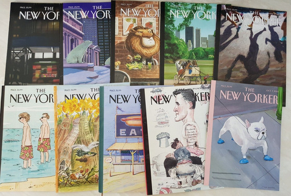 Lote 3 Revistas The New Yorker 2012/3/4 - 10 Revistas