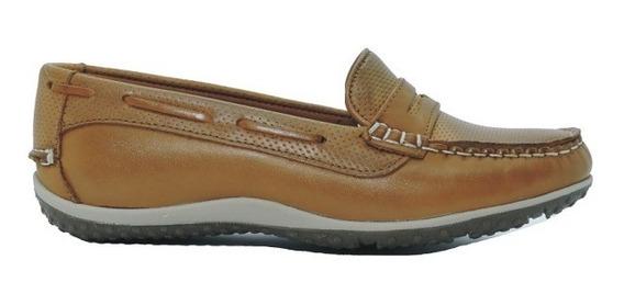Zapato Mujer Mocasín Cuero Suela Micro Candilejas