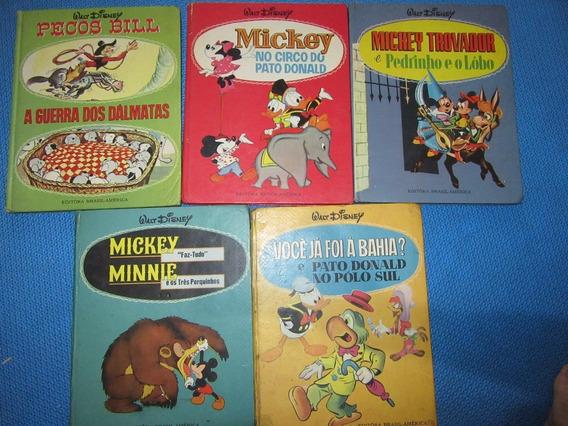 Lote 5 Livros Coleção Disnebal Ed. Brasil America