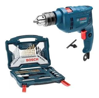 Taladro Percutor Atornillador Bosch + Set 50 Acc Bosch X Lin