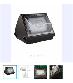 5 X Luminaria Wallpack 100w