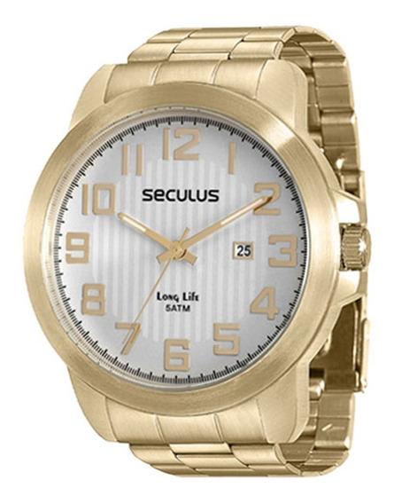 Relógio Feminino Seculus Dourado Em Aço