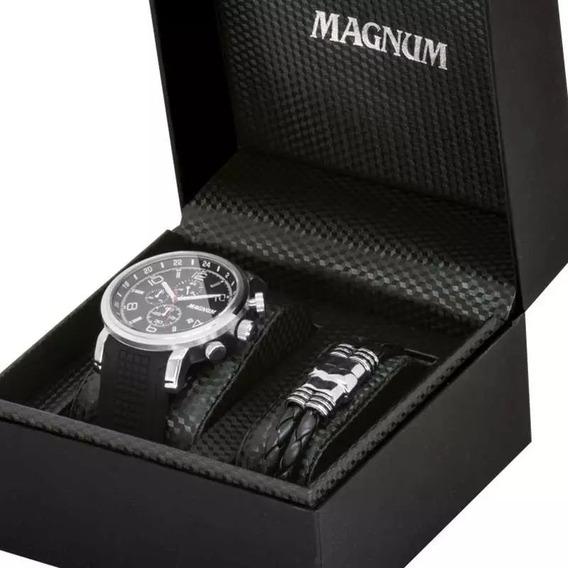 Relógio Masculino Magnum Ma34334c Cronógrafo Com Pulseira
