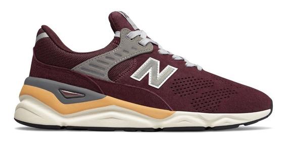 Tênis New Balance X90 Nubuck Burgundy Masculino Msx90pnc