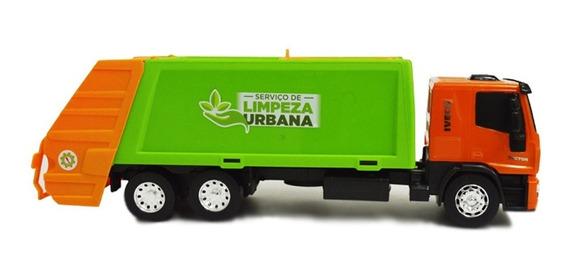 Juguete Niño Camion Iveco Recolector Basura Usual Brinquedos