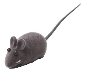 Ratinho Para Gatos Rato Em Vinil Maleável Com Apito C/ 10 Un