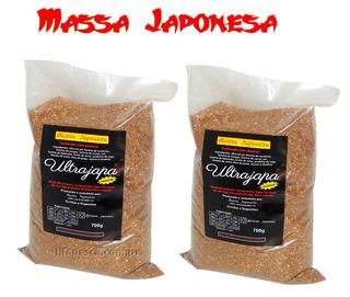 Kit 2 Massas Japonesa Ultrajapa Turbinado C/atrativos 2x700g