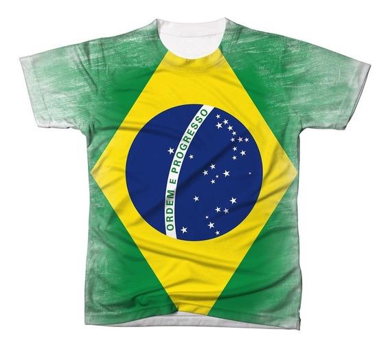 Camisa Camiseta Blusa Bandeira Brasil Jogo Copa Mundo 2018