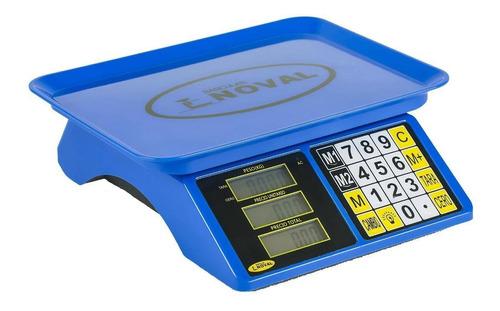 Imagen 1 de 1 de Báscula comercial digital Noval ECO 15TN 20kg 100V/240V azul 27cm x 19cm