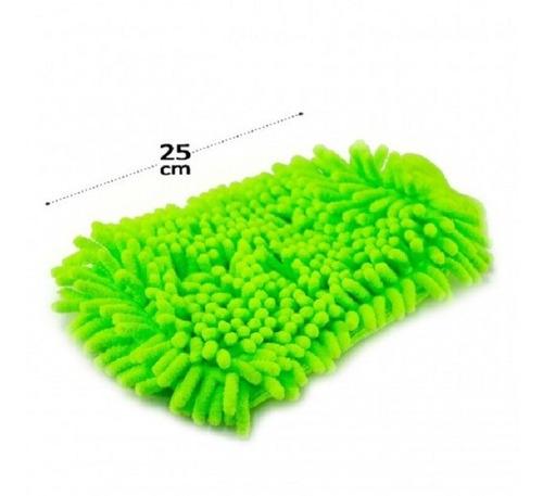 Imagem 1 de 1 de Esponja Luva De Lavar Carros Motos - Toalha De Microfibra