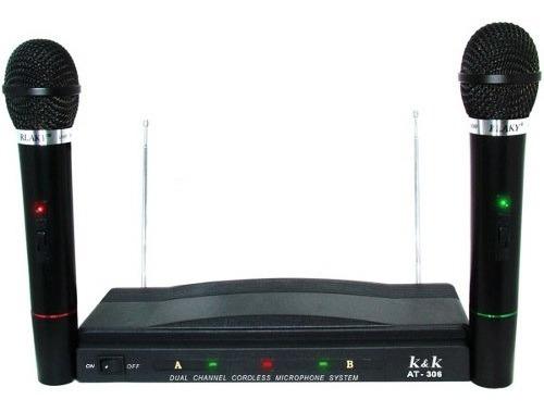 Pack X 2 Micrófonos Inalambricos  Karaoke Universo Binario