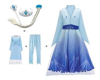 Fantasia Elsa Frozen 2 Infaltil Filme Novo Lançamento 3pçs