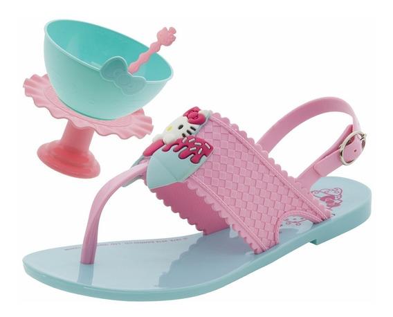 Sandalia Infantil Hello Kitty Sweet Com Brinde 21375