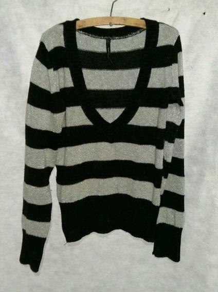 Sweters Rayado Talle 40 De Mujer