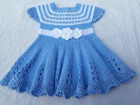 Vestido Em Croche De 3 A 6 Mês Trabalho Sob Encomenda