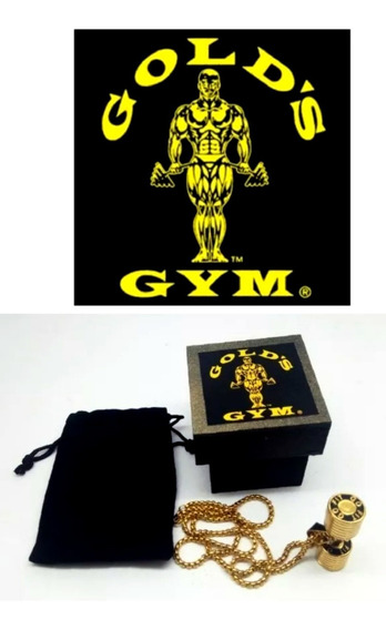 Colar Golds Gym,maromba,musculacao,academia,monstro,c/caixa.