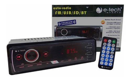 Imagem 1 de 8 de Radio Mp3 Player E-tech Premium C/ Fm Usb Sd Aux E Bluetooth