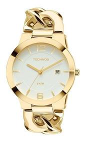 Relógio Technos Feminino Elegance Unique Dourado 2115ul/4b