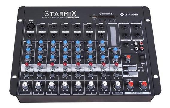 Mesa Som Starmix Bluetooth 8 Canais 18.4w S802rbt Ll Áudio