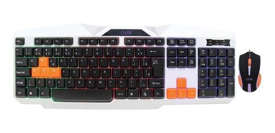 Kit Gamer Oex Combo Ice Teclado Backlight + Mouse Usb Tm300