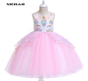 Unicornio Vestido De Moda Vestido De Princesa