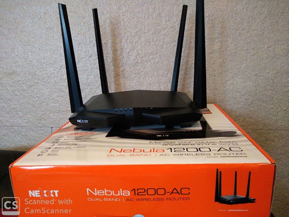 Router Dual Band 2.4 Y 5 Ghz Nexxt Nebula 1200 Ac