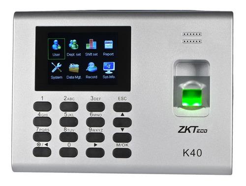 Biometrico Zk40 K40 Control De Asistencia Y Acceso