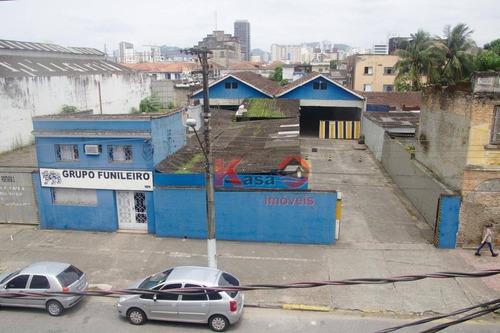 Imagem 1 de 9 de Galpão Para Alugar Por R$ 15.000,00/mês - Macuco - Santos/sp - Ga0146