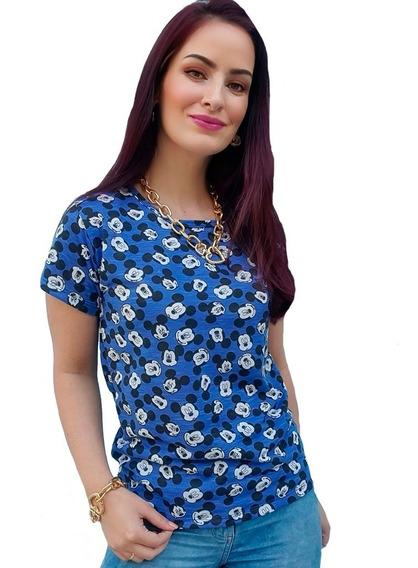 Kit Atacado 10 T-shirt Blusinha Feminina Personagens Mickey
