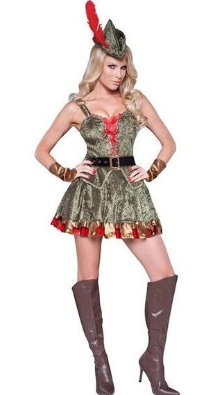 Disfraz Robin Hood Importado Mujer Halloween Fiestas Tm