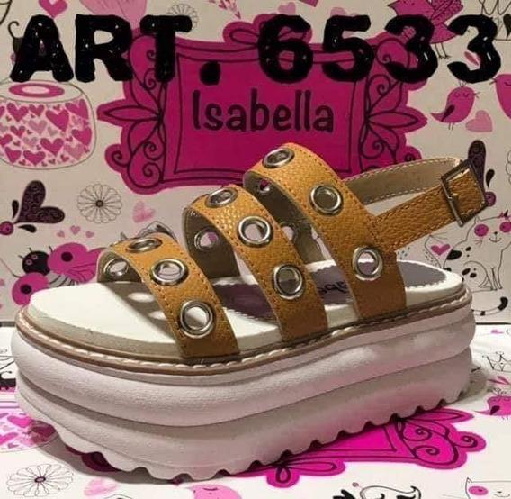 Sandalias Con Ojalillos De Niñas/nenas Maiz Art 6533 Talles Del 27 Al 33
