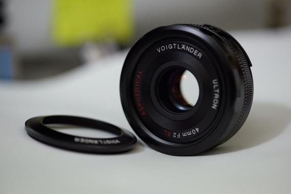 Voigtlander 40mm F2 Nikon Serve Fuji Canon Sony C/ Adap