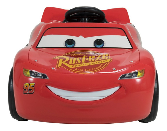 Auto A Bateria Rayo Mc Queen Disney Cars 12v Con Seguridad